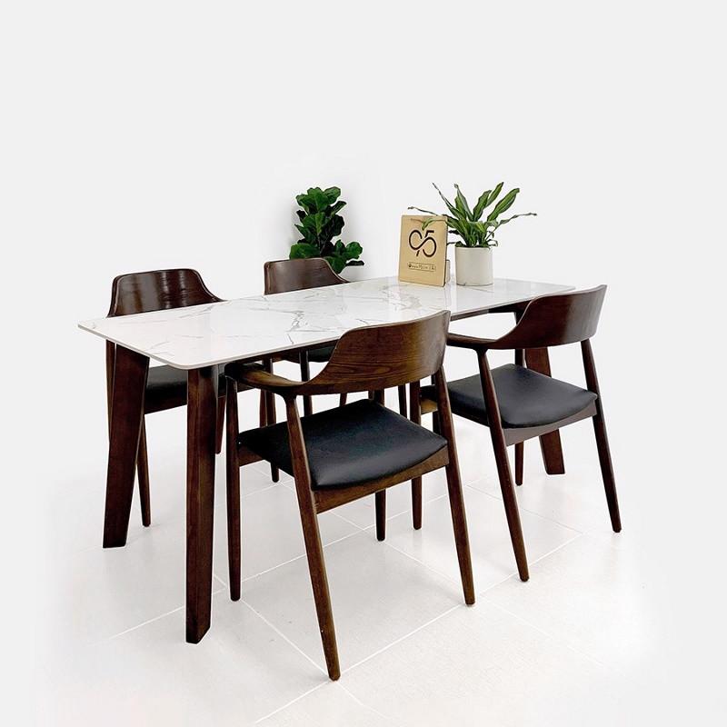 Bộ bàn ghế ăn Pula BGA02 - 4 ghế