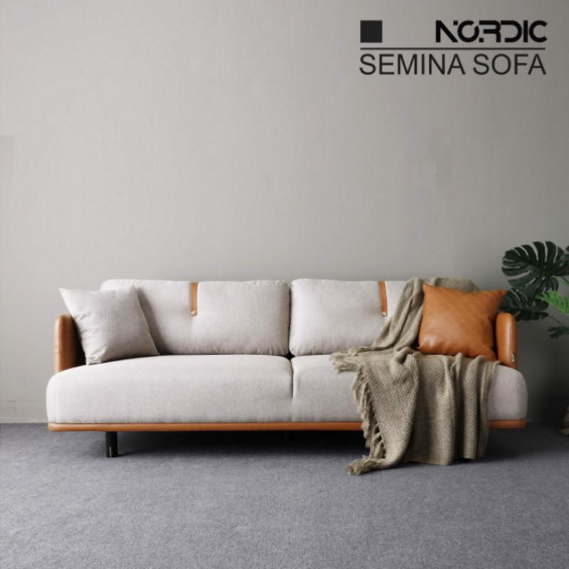 Ghế sofa văng viền da hiện đại V37